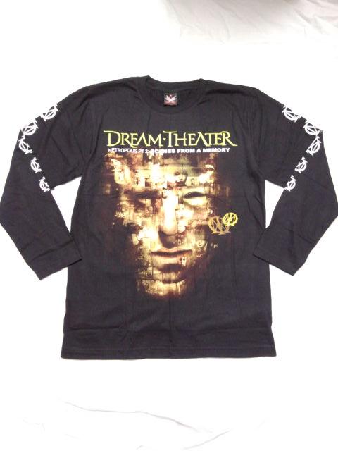 ゆうメール 1枚あたり¥110 発送可能 ロックTシャツ DREAM THEATER ドリームシアター 長袖 S M 黒 ヘビーメタル 選択 バンドTシャツ XL ブラック L 新登場 ロンT