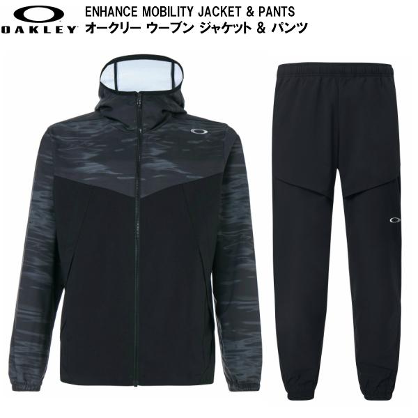オークリー 激安 激安特価 送料無料 ウーブン ジャケット パンツ セット ブラック OAKLEY お中元 ENHANCE MOBILITY PANTS BLACK FOA400805-00G-FOA400823-02E JACKET