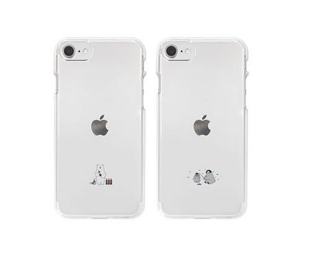 個性豊かなデザイナーたちの作品を厳選しています 国内正規品 Dparks iPhone 8 期間限定特価品 7 SE ソフトクリアケース 第2世代 ミニ動物 DS18908i9 透明TPUケースに可愛いイラスト DS18907i9 与え