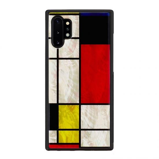ikins Galaxy Note 10+ケース メーカー再生品 I18370GN10P アイキンス 天然貝ケース モンドリアンの絵画のような幾何学パターンとビビッドカラーが印象的 Mondrian 豊富な品