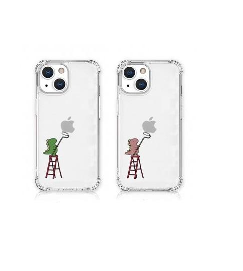 数量限定 エイカン 衝撃を吸収するTPUケースに可愛いイラスト 国内正規品 AKAN iPhone 13 おしごとザウルス AK21001i13P Pro クリアケース 超安い ペインティング ソフトタフケース