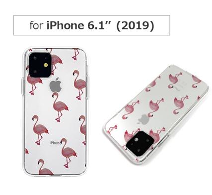 Dparks DS17271i61R ディーパークス iPhone 11 マーケティング フラミンゴ ソフトクリアケース お値打ち価格で 透明TPUケースに可愛いイラストが入ったケース 6.1インチ