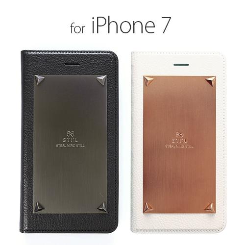 <STI:L>【iPhone 8/7 4.7インチ】 手帳型 LOVE TRIANGLE(ラブトライアングル) イタリアンPUレザーとメタルプレートとのハイブリット ST8183i7 ST8184i7