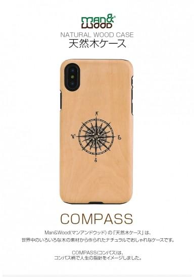 Compass I10498i8 初回限定 ManWood iPhone 注目ブランド X 天然木を使ったナチュラルなウッドの質感が感じられるケース 5.8インチ マンアンドウッド XS
