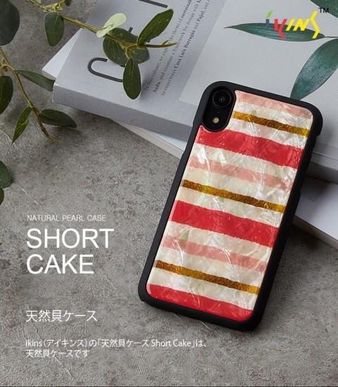 <ikins(アイキンス)>【iPhone XR 6.1インチ】天然貝 Short Cake イチゴケーキの断面のイメージで甘い色彩がかわいい I13943i61