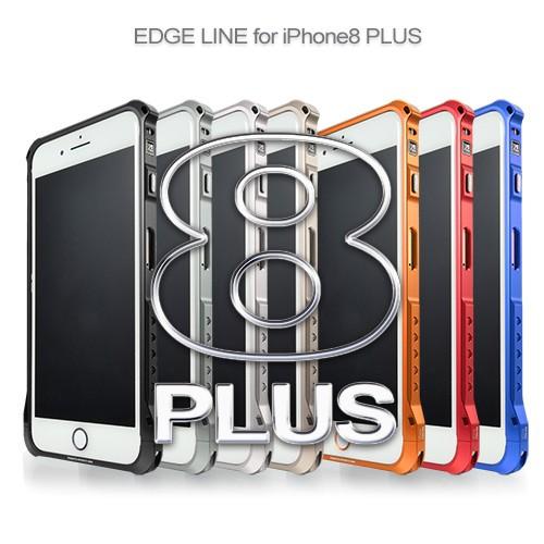 <alumania(アルマニア) >【iPhone 8 Plus/ 7 Plus】 EDGE LINE for iPhone8 Plus エッジライン史上最軽量の27.3gを実現したアルミバンパー IP-A1806-SI