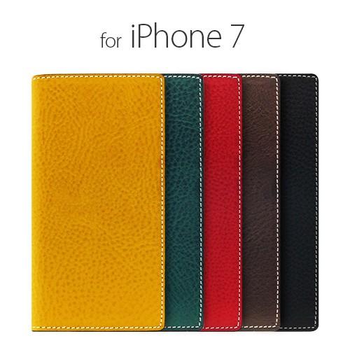 <SLG Design(エスエルジーデザイン)>【iPhone 8/7 4.7インチ】 手帳型 Minerva Box Leather Case ミネルバボックスレザーケース エンボスが美しい SD8096i7
