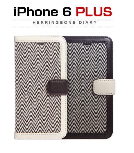 <ZENUS>【iPhone6s Plus/6 Plus 5.5インチ】Herringbone Diary(ヘリンボーンダイアリー ) Z4702i6P Z4703i6P