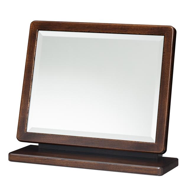 【送料無料(一部地域除く)】卓上ミラー 鏡 スタンドミラー テーブルミラー かがみ ミラー 卓上鏡 メイク鏡 化粧鏡 デスクミラー 木製 角度調節 上置ミラー(中) K3206 (290210)【KH】