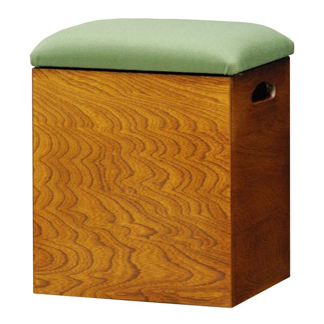 【送料無料(一部地域除く)】箱椅子 あおい (収納付き) T5557 (290227)【KH】