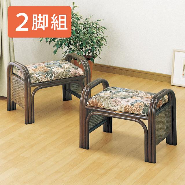 【送料無料(一部地域除く)】 正座椅子 座椅子 立ち座り 肘掛け 便利 籐(ラタン) らくらく座椅子 正座いす ハイタイプ 2脚セット C-12set (250919) rattan【IE】