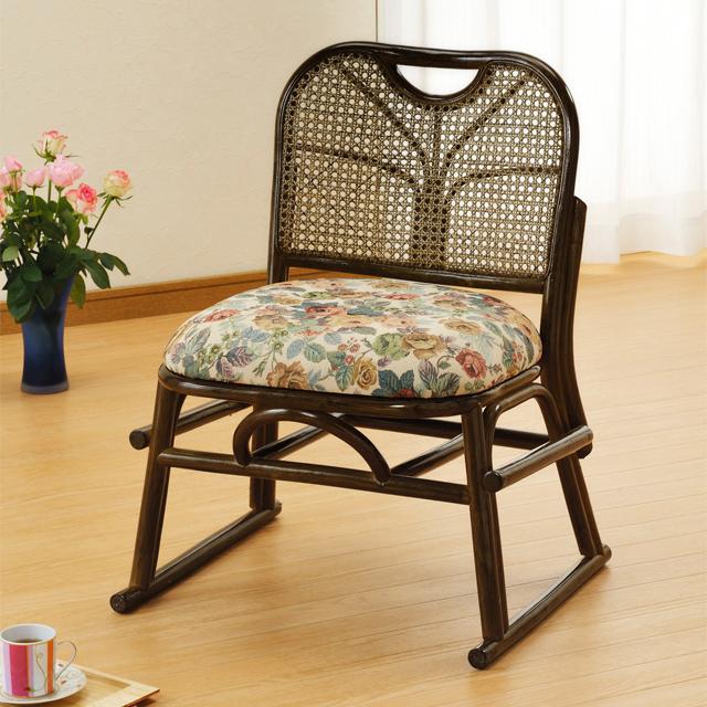 【送料無料(一部地域除く)】積み重ねて収納できる 籐(ラタン) 製スタッキング座椅子S-141b (250951) rattan【IE】