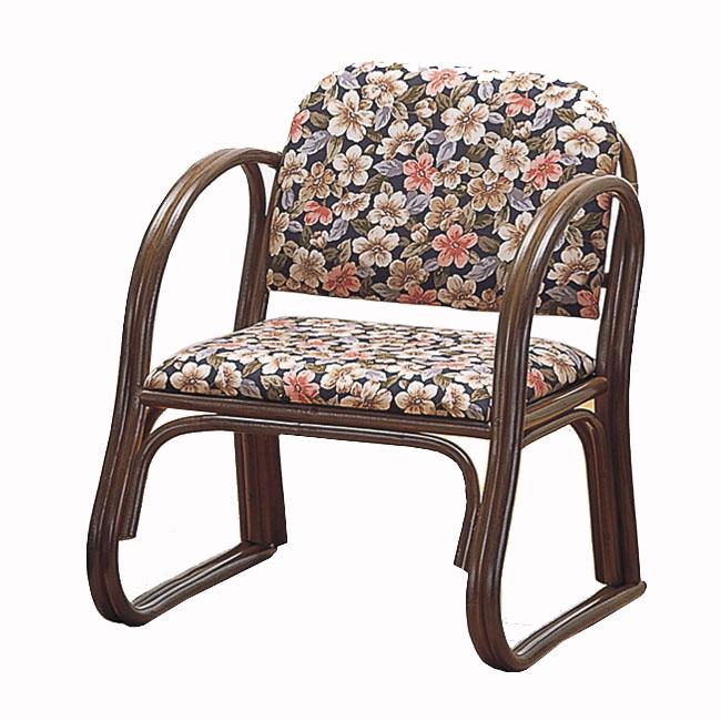 【送料無料】桜柄の籐(ラタン) 思いやり座椅子 ミドルタイプ S-212B (250956) rattan【IE】