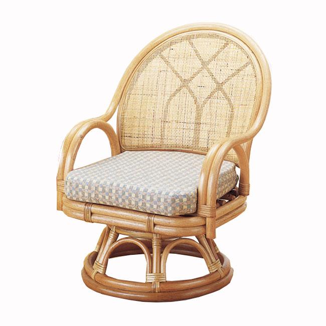 【送料無料(一部地域除く)】ラウンドチェアー 立ち座りが楽な回転座椅子 ハイタイプ S-366 (251086) 人気商品 オールシーズン対応 rattan【IE】