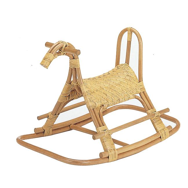 【送料無料(一部地域除く)】籐(ラタン) 製 ロッキング子供馬 S-564 (251041)【IE】対象年齢2~5才 rattan【IE】