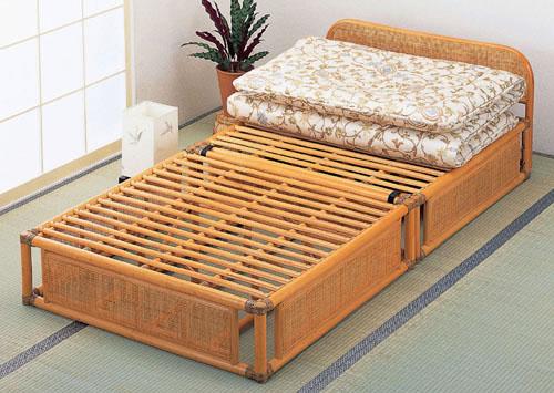 【送料無料(一部地域除く)】(おすすめ品)籐(ラタン) ヘッドボード2段階高さ調節の高級籐ベッド ラタンベッドY-915(250709)(プレゼント最適品) bed  快適ベッド rattan【IE】