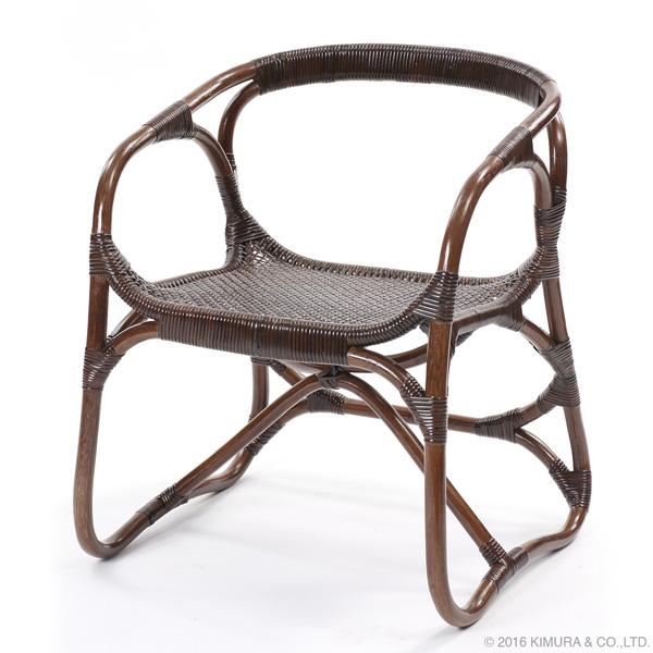 【送料無料(一部地域除く)】ラタン手編み パーソナルチェア C110KA (50391) 籐椅子 籐の椅子 ラタンチェア 座椅子 籐家具 ラタン家具【RW】