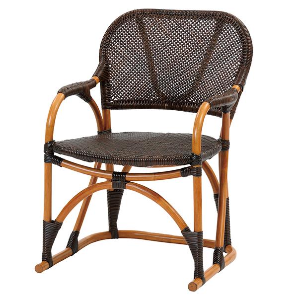 【送料無料(一部地域除く)】ラタン手編み チェア C117CB (50385) 籐椅子 籐の椅子 ラタンチェア 座椅子 籐家具 ラタン家具【RW】