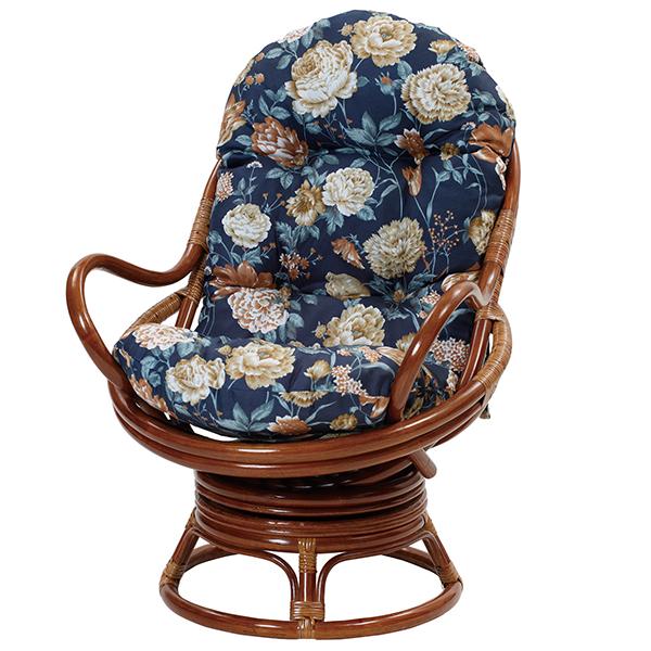 【送料無料(一部地域除く)】ラタンリラックス回転チェア C2991HRA (50595) 籐回転座椅子 ラタンチェア 籐座椅子【RW】
