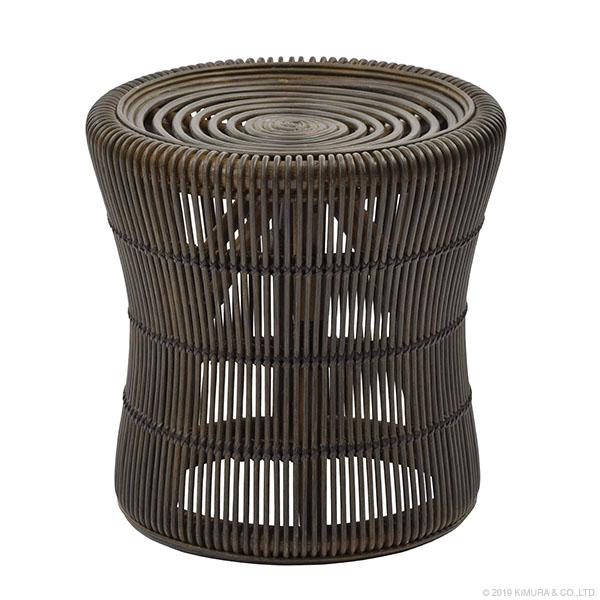 【送料無料(一部地域除く)】ラタン スツール ブラック BREEZE C429BX (50609) ラタンチェア スツール 籐スツール 籐椅子 籐の椅子 籐家具 ラタン家具【RW】