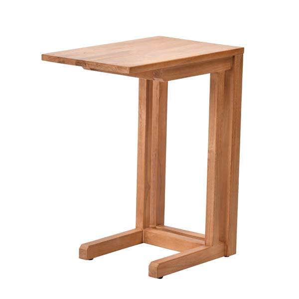 【送料無料(一部地域除く)】チーク無垢材 ナチュラル サイドテーブル BREEZE T208XP (50642) 木製 テーブル 机【RW】