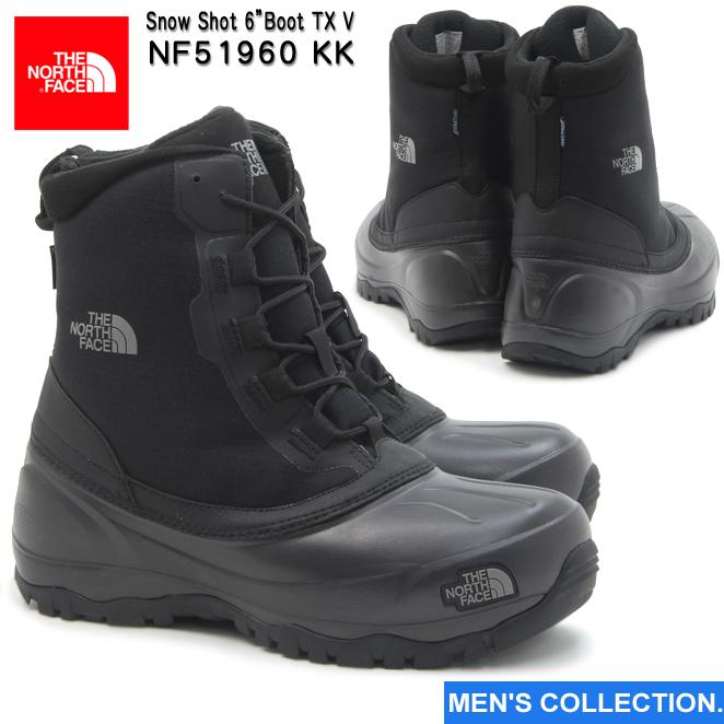 """送料無料【ノースフェイス】 スノーショット 6"""" ブーツテキスタイル 5 メンズ ブーツ NF51960 KK TNFブラック×TNFブラック THE NORTH FACE Snow Shot 6""""Boot TX V"""