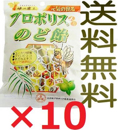 【全国送料無料】プロポリス入のど飴 100g×10袋 キャンディー【代引不可】