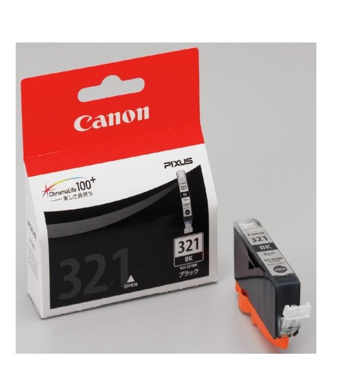 インクジェットカートリッジ 純正品 発売モデル 安心の1年保証 Canon 1個 キヤノン BCI-321BK ブラック 限定品