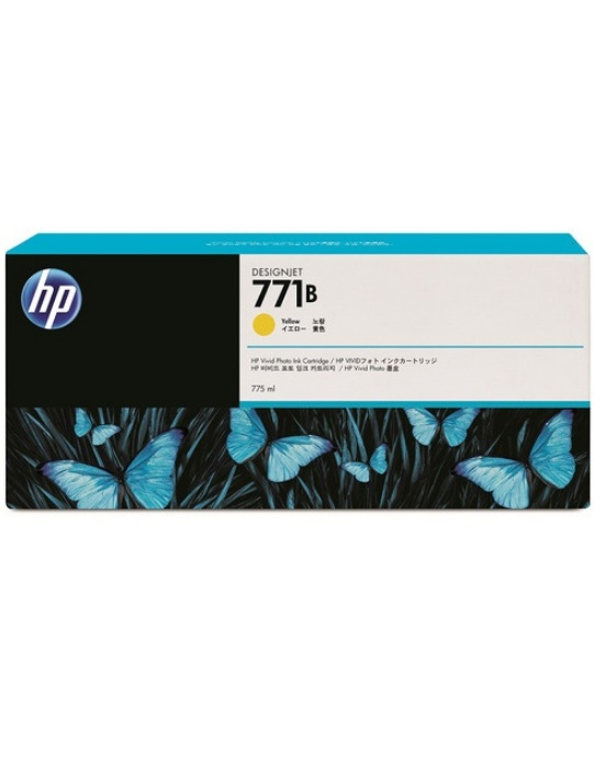 HP HP771B インクカートリッジ(イエロー775ml) B6Y02A【純正品】[送料無料]こちらの商品は海外輸入品となり、メーカーの在庫状況によってはお届けまでに1か月程度のお時間を頂く場合がございます。予めご了承下さい。