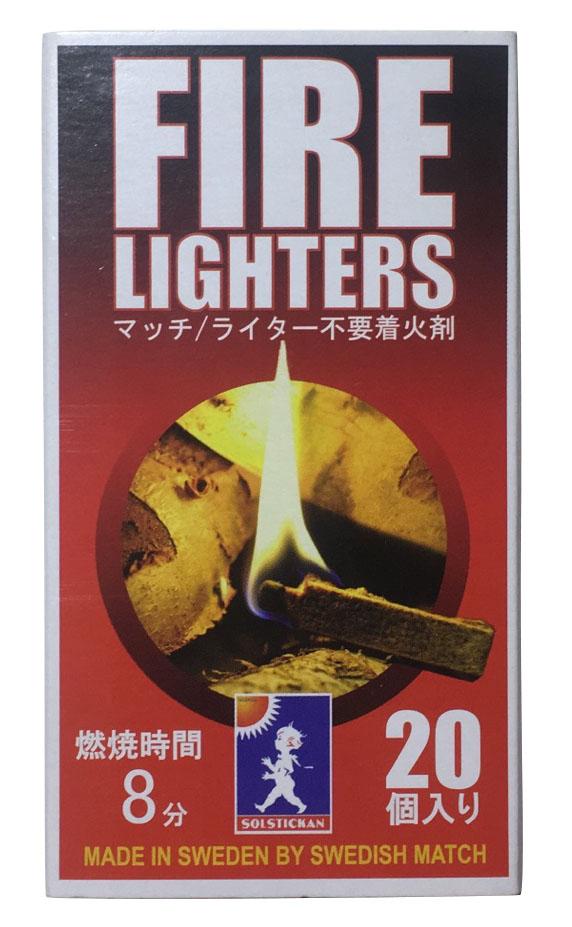 おしゃれなパッケージ FIRE LIGHTERS キャンペーンもお見逃しなく ファイヤーライターズ 着火剤 マッチ型着火剤 火 火起こし ファイヤースターター セット 焚き火 キャンプ 20本入り バーベキュー ライター不要 出色 bbq 薪ストーブ 1箱 燃焼継続 便利グッズ アウトドア 炭