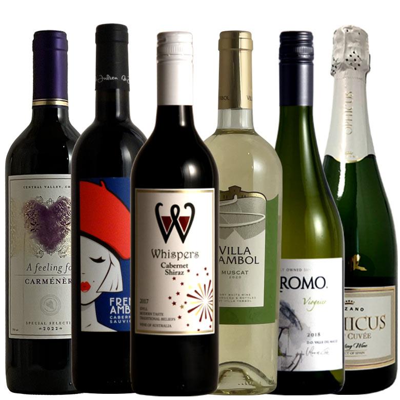 POPで便利 ワインセット お気軽バラエティパック6本 送料無料 金賞ワイン セット  赤 赤ワイン フルボディー コク旨 白 白ワイン 白ワインセット wine ワイン セット 金賞入り ギフト プレゼント ワイン 金賞 赤ワイン 金賞 750ML