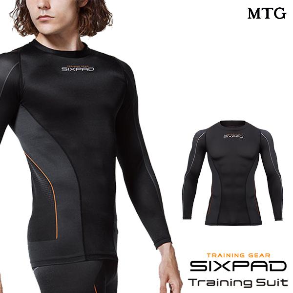 シックスパッド トレーニングスーツ ロングスリーブトップ(MEN) 【メーカー公式店】 MTG SIXPAD sixpad 大胸筋 トレーニングウェア インナー