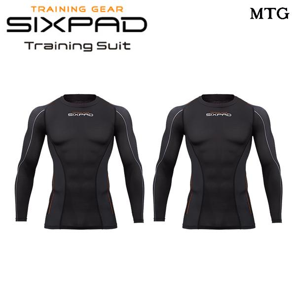 シックスパッド トレーニングスーツ ツインロングスリーブトップ セット(MEN) 【メーカー公式店】 MTG sixpad 大胸筋 トレーニングウェア インナー