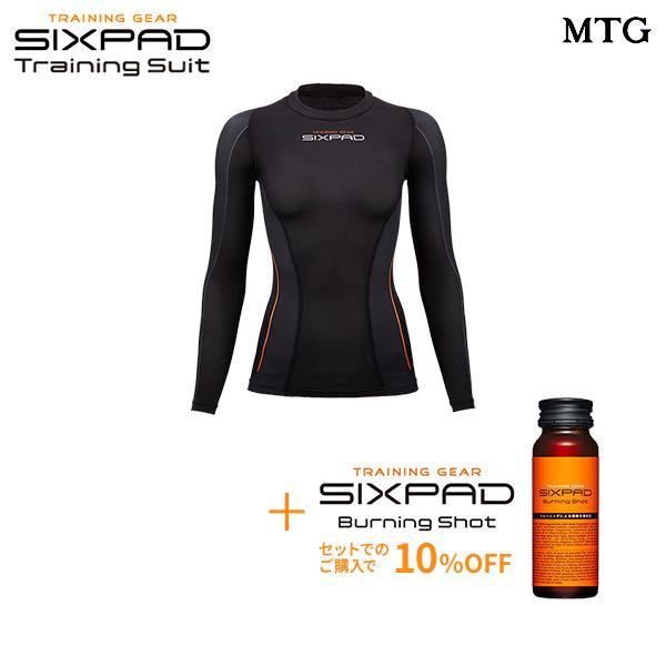 シックスパッド トレーニングスーツ ロングスリーブトップ(WOMEN)& バーニングショット セット 【メーカー公式店】 MTG sixpad 大胸筋 トレーニングウェア インナー