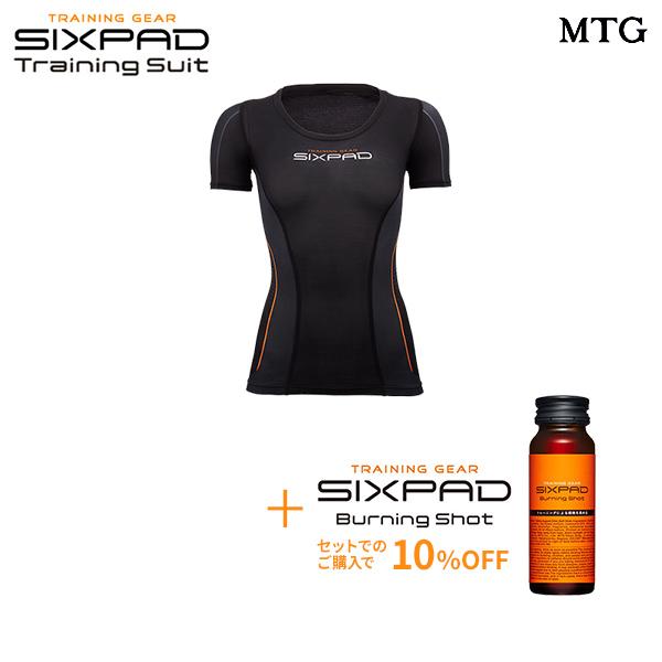シックスパッド トレーニングスーツ ショートスリーブトップ(WOMEN)& バーニングショット セット 【メーカー公式店】 MTG sixpad 大胸筋 トレーニングウェア インナー