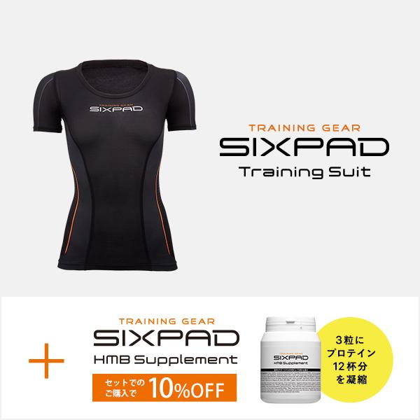 【メーカー公式店】 MTG シックスパッド トレーニングスーツ ショートスリーブトップ(WOMEN)& HMBサプリメント セット SIXPAD sixpad 大胸筋 トレーニングウェア インナー