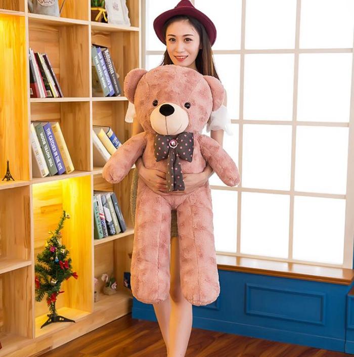 送料無料 ぬいぐるみ 特大 くま/テディベアー リボン 可愛い 熊 大きい クマ抱き枕/ふわふわぬいぐるみ 120cm 女の子 男の子 子供 女性 ハロウィン クリスマス プレゼント