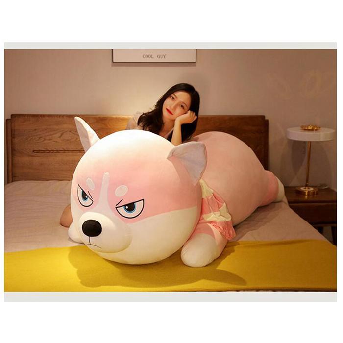 送料無料 ハスキー犬のぬいぐるみ ぬいぐるみ 特大 犬 170cm 抱きまくら ぬいぐるみ 犬 いぬ 枕 まくら 寝具 犬のぬいuFlT31KJc