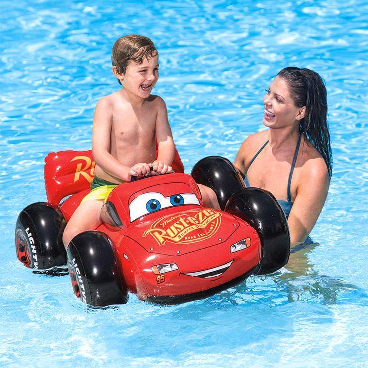 人気のディスニーキャラクターのキッズフロートCARS 買収 カーズ ライドオン キッズフロート ウォーターフロート ディズニー キャラクター Disney 開催中 CARS うきわ インテックス INTEX 川遊び 海水浴 プール INT KNS 送料無料 浮き輪