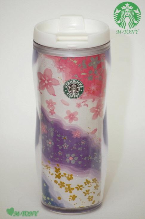 Starbucks星巴克2010櫻花大玻璃杯櫻花350ml(12oz),禮物包裝發送