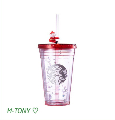 473 Ml Of Starbucks Starbucks Santa Straw Figure Skating Cold Cup Tumblers Foreign Countries Limitation From The Gift Packing
