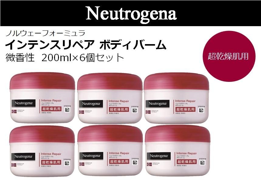 【6個セット】Neutrogena(ニュートロジーナ)ノルウェーフォーミュラ インテンスリペア ボディバーム 超乾燥肌用 微香性 単品 200ml×6個