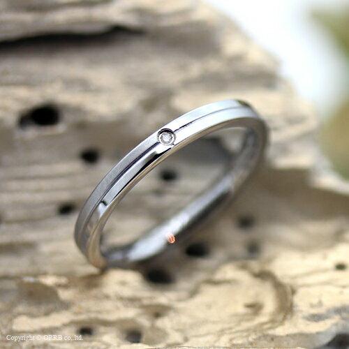 リング 指輪 女性用 レディース クロスカット ダイヤモンド シルバー 刻印可能 名入れ メッセージ 刻印 ステンレス 金属アレルギー TR0045