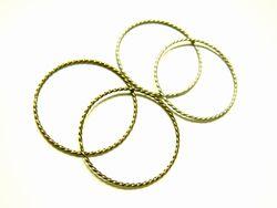さりげなくお洒落なフープパーツは、ネックレスやイヤリングに。ビーズパーツと組み合わせて。 スクリュー 30mm 4個[foo-047]【フープ・アクセサリーパーツ・ビーズ】