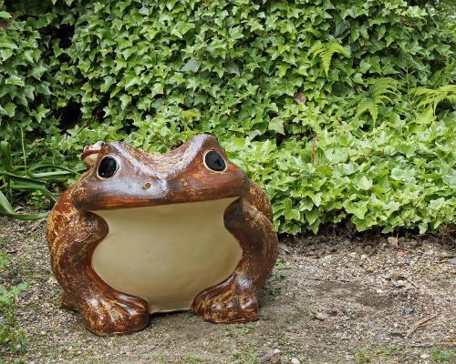 信楽焼 カエル 置物 20号 [名入れ 対応※有料] 陶器 かわいい かえる 大きい 蛙 おしゃれ グッズ 玄関 雑貨 字入れ可 庭 巨大 ギフト 信楽焼き 焼き物 やきもの (MR9039-01G)