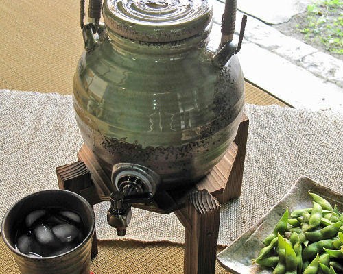【P10倍】[送料無料※一部地域は半額] 信楽焼 ビードロ 焼酎サーバー (一升用) (dsoi)水瓶 マイナスイオン/ギフト/信楽焼き/焼き物/やきもの
