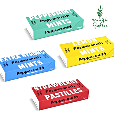 ミントタブレット 無添加 ペッパースミス Peppersmith 15g 永遠の定番 購入金額別特典あり 自然食品 低カロリー オーガニック 正規品 低GI 100%植物ベース 2020春夏新作