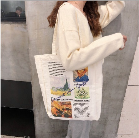 韓国 韓国ファッション シンプル 人気ブランド多数対象 デイリー おでかけ おしゃれ アメカジ アメリカンカジュアル アメリカン 個性的 ファッション プリント トートバッグ エコバッグ レディース 派手 英字 ショルダーバッグ バッグ ハンドバッグ ロゴ 画家 デポー