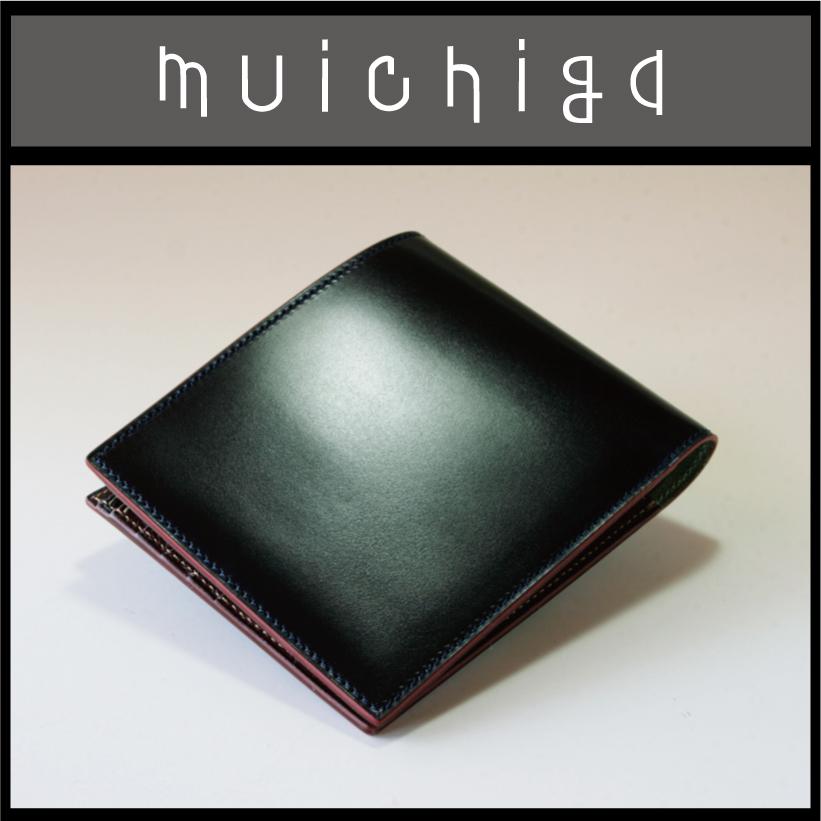 コードバン 財布 二つ折り メンズ コードバン×ゴート 純札