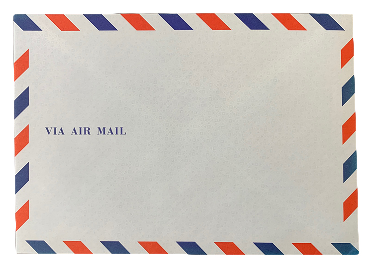 AYF2-10 エアメール【ワンタッチ】封筒 洋型2号 10枚入り  /15時まで あす楽対応(土日祝祭日不可)